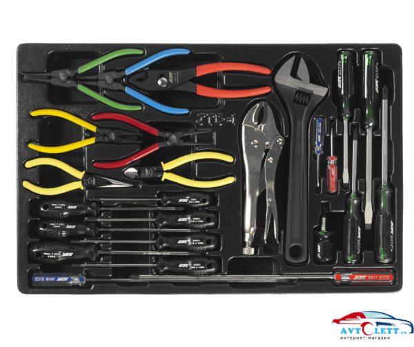 Набор инструментов для тележки инструментальной JTC-3931 (1-я секция) 25 предметов JTC /1 1