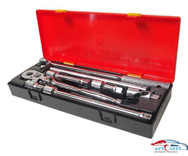 """Набор инструментов 1/2"""" (удлинители, воротки, трещотка на шарнире) в кейсе 8 предметов JTC /1 1"""