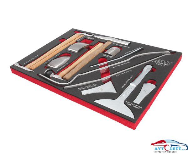 Набор инструмента для кузовных работ, в ложементе (13 предметов) JTC /1/2 1
