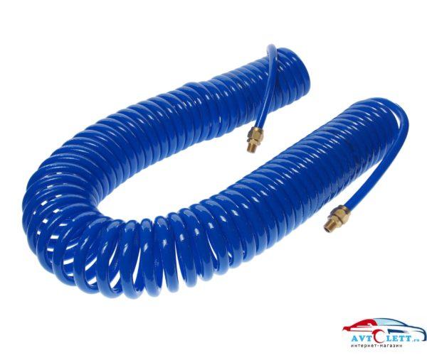 Шланг спиральный воздушный вн. диаметр 8 мм, внеш. диаметр 12 мм, разъемы 1/4 (внешняя резьба), длина 15 м. JTC /1 1