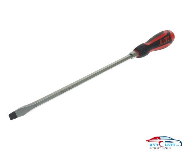 Отвертка шлицевая SL8.0 х 250мм усиленная со сквозным стержнем JTC /1 1