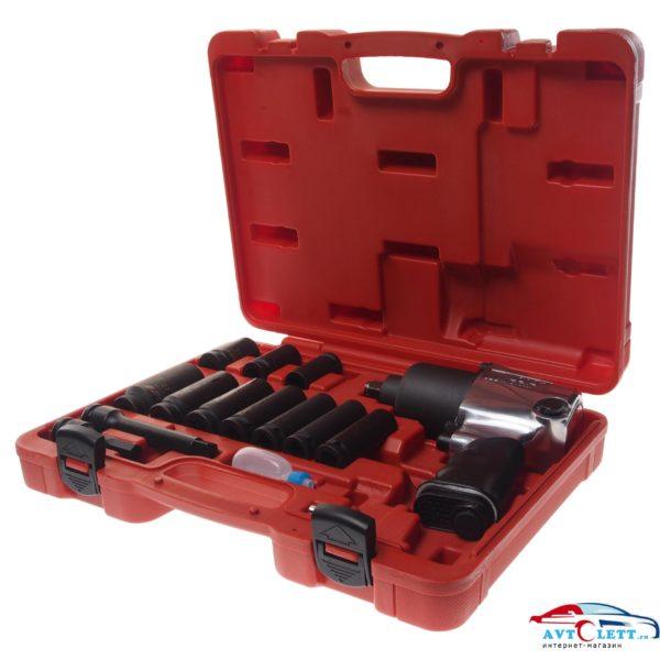"""Набор шиномонтажника 15 предметов в кейсе, включает пневмогайковёрт JTC-3202 - 1/2"""" 624 н/м JTC /1 1"""