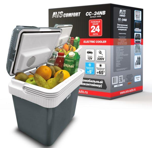 Холодильник автомобильный AVS CC-24NB (24л 12В/220В) 1
