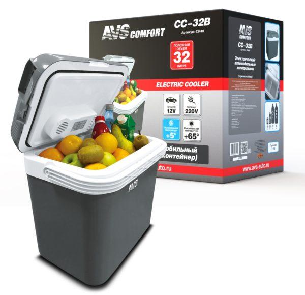 Холодильник автомобильный AVS CC-32B (32л 12В/220В) 1