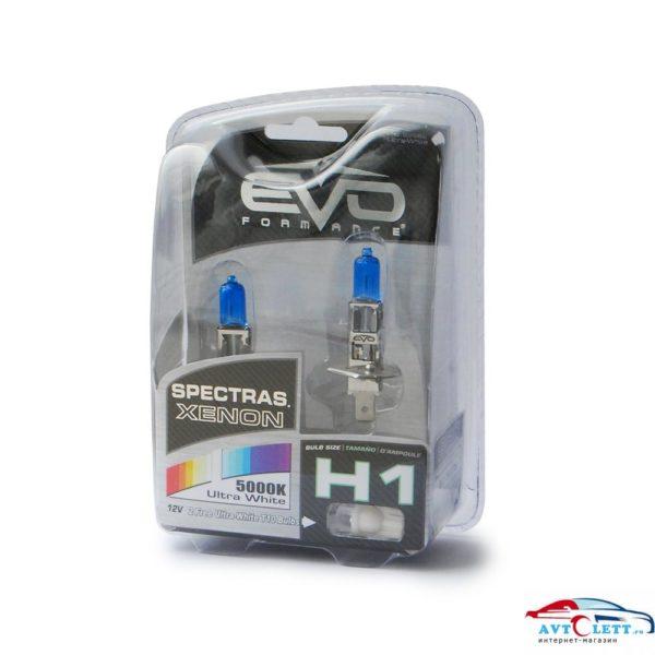 "Газонаполненные лампы EVO ""Spectras"" 5000K / H1 комплект 2+2 (T-10) шт."