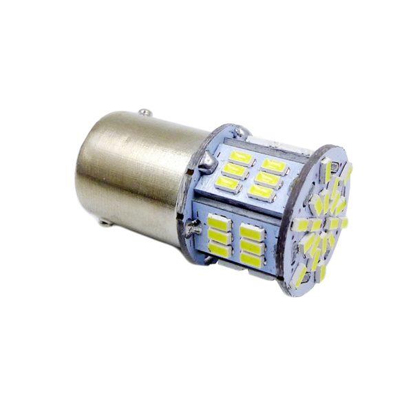 Лампа AVS T15 S099B /белый/(BAY15D) 54SMD 3014 10-30V 2 contact, коробка 2 шт 1