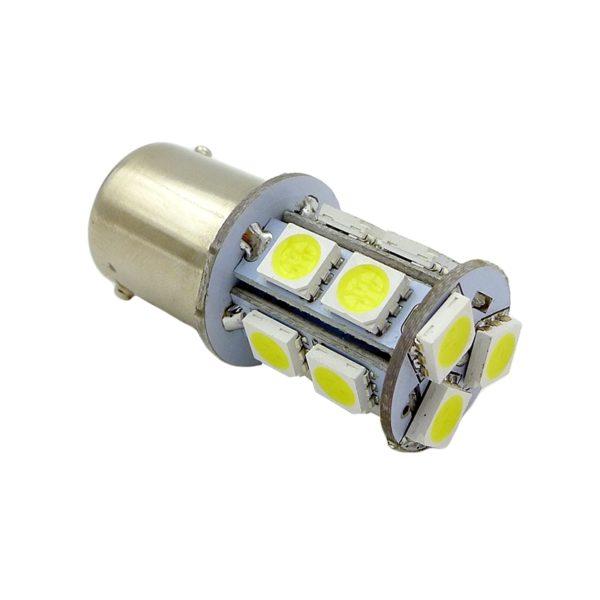 Лампа AVS T15 S022A /белый/(BA15S) 13SMD 5050 12V 1 contact, коробка 2 шт. 1