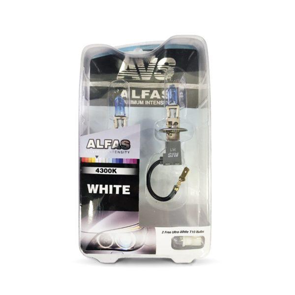 """Газонаполненные лампы AVS """"Alfas"""" +130% 4300K H1 комплект 2 шт. 1"""