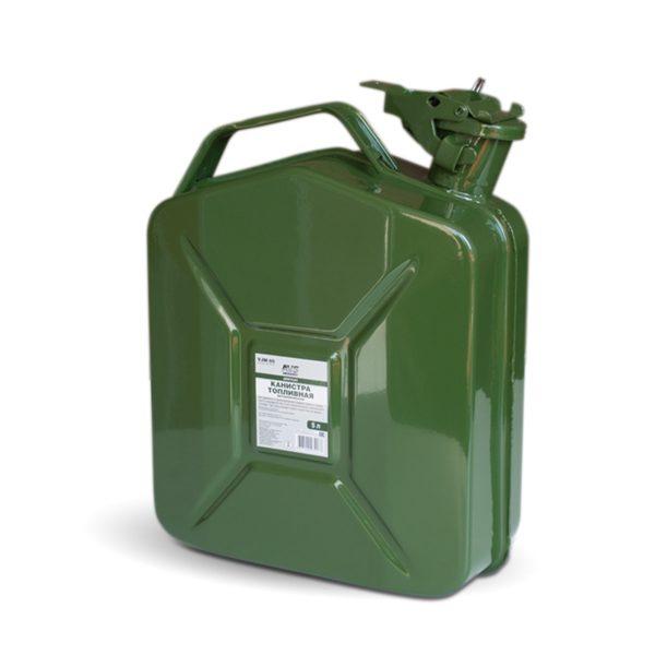 Канистра топливная металлическая вертикальная 5 л (зелёная) AVS VJM-05 1
