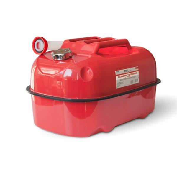 Канистра топливная металлическая горизонтальная 20 л (красная) AVS HJM-20 1