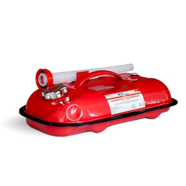 Канистра топливная металлическая горизонтальная 5 л (красная) AVS HJM-05 1
