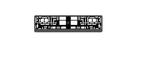 """Рамка под номерной знак """"карбон (тёмный)"""" AVS RN-04 1"""