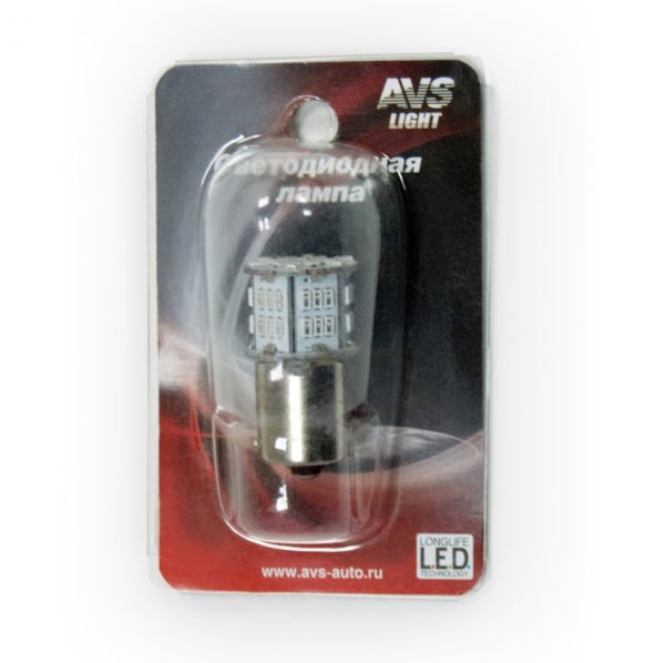 Лампа AVS T15 S099A /белый/ (BA15S)S25 54SMD 3014 1 contact, блистер 1 шт. 1