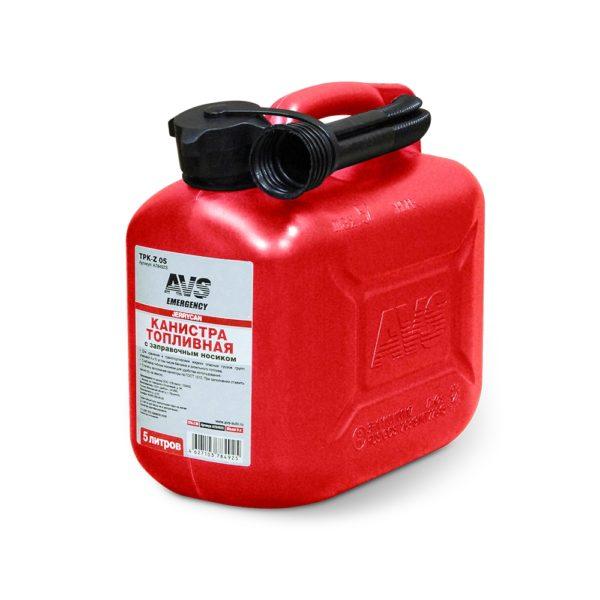 Канистра для топлива (пластик) 5л (красная) AVS TPK-05 1