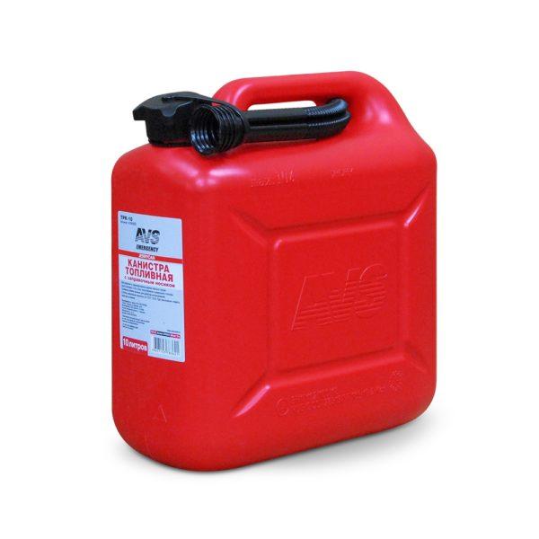 Канистра для топлива (пластик) 10л (красная) AVS TPK-10 1