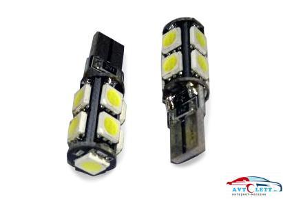 Лампа AVS T10 C011 /белый/ (W2.1x9.5D) CANBUS 9SMD 5050, блистер, 2 шт. 1