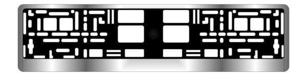 Рамка под номерной знак хром AVS RN-12 1
