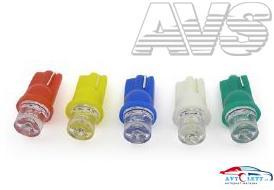 Лампа AVS T10 T011 /белый/ (W2.1x9.5d) 1LED усечённая W5W,10 шт. 1