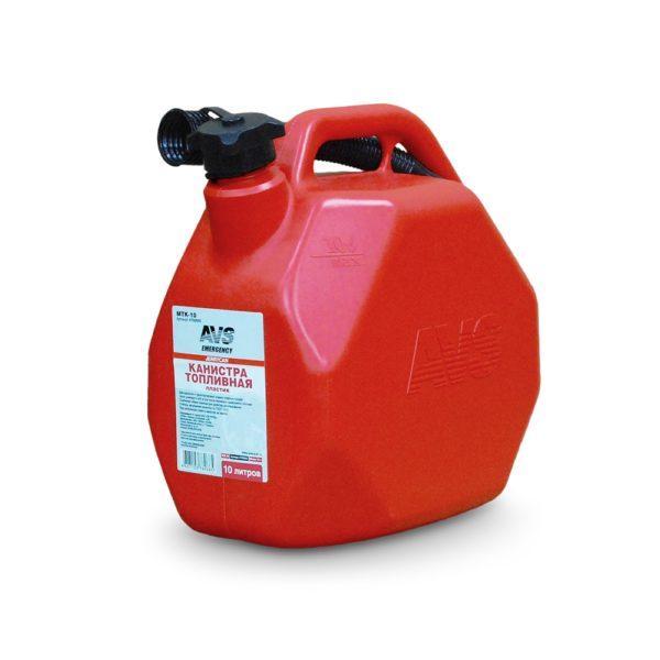 Канистра топливная пластик.10л.(красная) AVS MTK-10 1