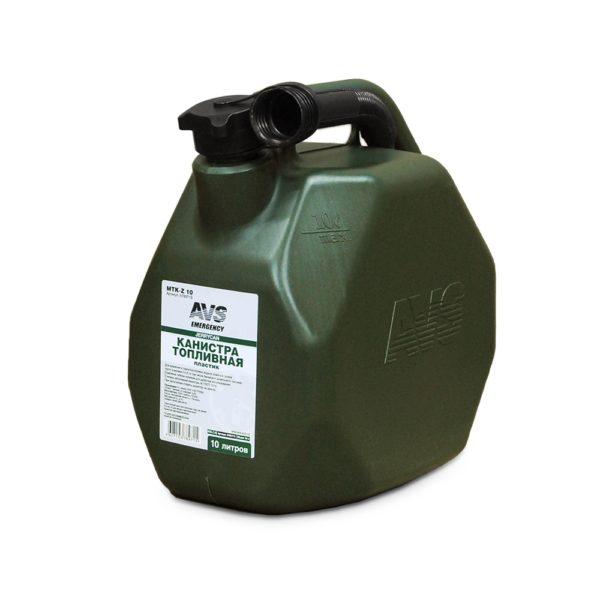 Канистра топливная пластик.10л.(темн.зелён.)AVS МТК-Z 10 1