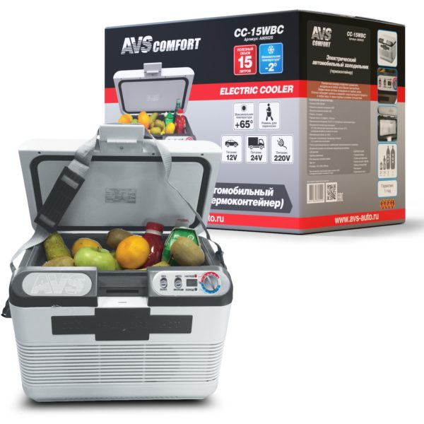 Холодильник автомобильный AVS CC-15WBС (15л 12В/24В/220В) 1