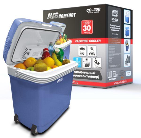 Холодильник автомобильный AVS CC-30B (30л 12В/220В) 1